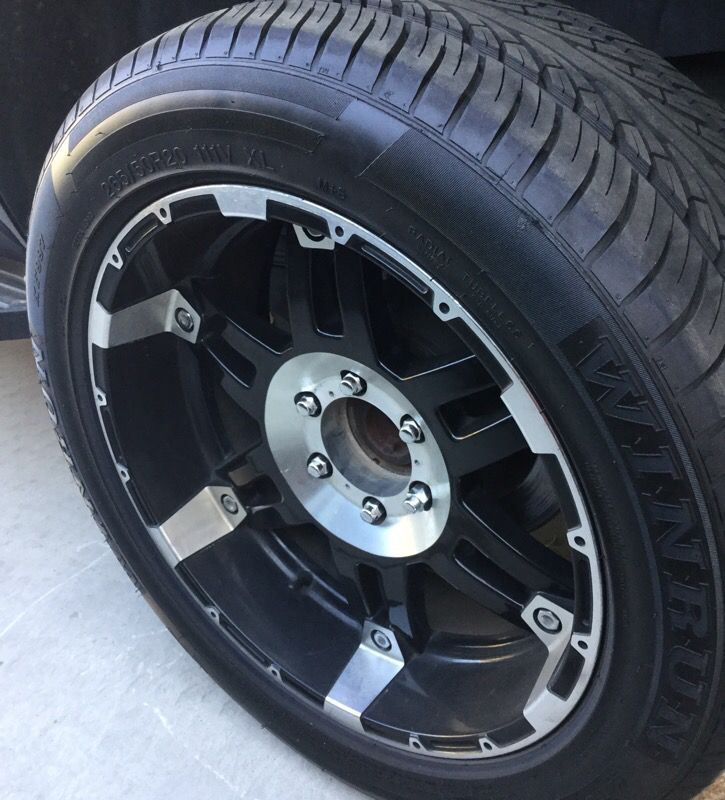Xd series wheels for 6 lug Toyota, Chevy,or Nissan with Radial tires