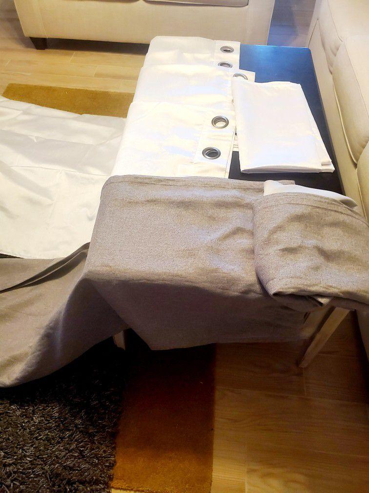 Hi Selling My Grey Rug  And White And Greytop Curtains