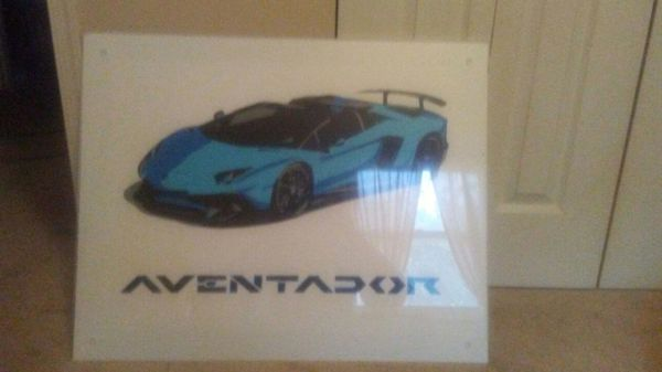 Lamborghini Aventador Vinyl Picture For Sale In Red Lion Pa Offerup