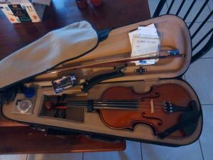 Violin, with tuner, extra strings, case, great condition for Sale in Deltona, FL