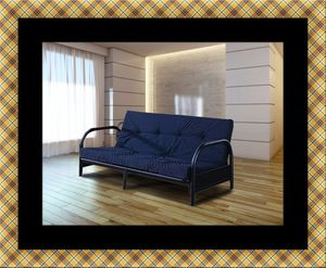 Black futon frame with mattress for Sale in Capitol Heights, MD