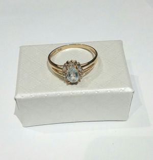 Real 10k gold engagement diamond ring size 7 for Sale in Kissimmee, FL