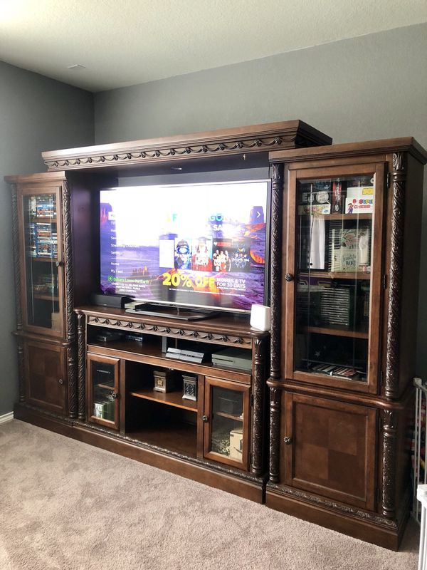 Ashley Furniture Large Entertainment Center For Sale In San Antonio