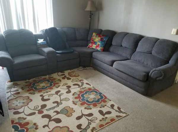 Dark Grey L Shaped All In One Sofa For Sale In Woonsocket Ri Offerup