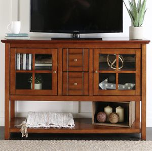 """WE Furniture 52"""" Console Table Wood TV Stand Console, Rustic for Sale in Broadview Heights, OH"""