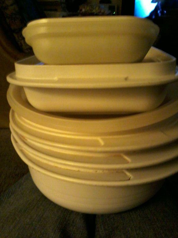 Tupperware ultra-21 cookware/microwave/oven 8 piece set ...