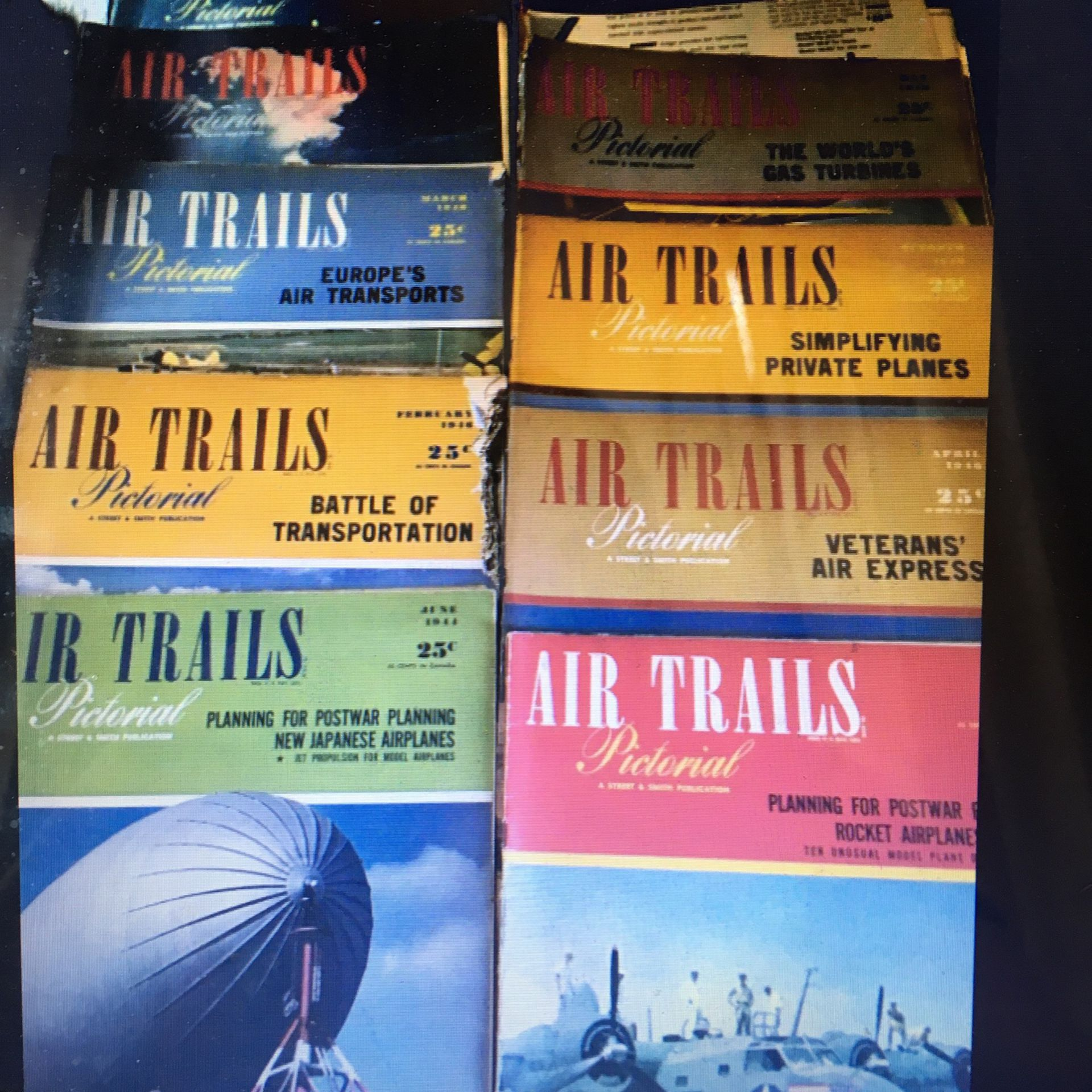 Vintage Air Trails Pictorial Magazine 38 Issues From The 40s And 50s
