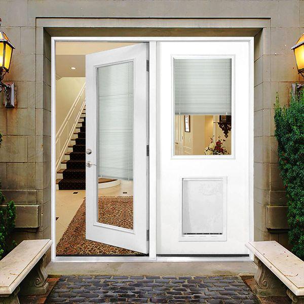 6f5696b174b Patio door with built in blinds and pet door for Sale in Phoenix