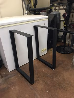 """Photo Iron Bench/table legs; Furniture Legs 28"""" Height 17.5"""" Wide"""