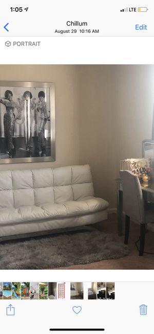White futon for Sale in Chillum, MD