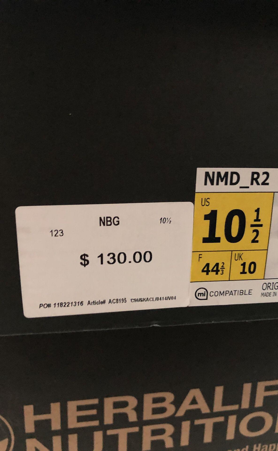 NMD R2 grey/orange