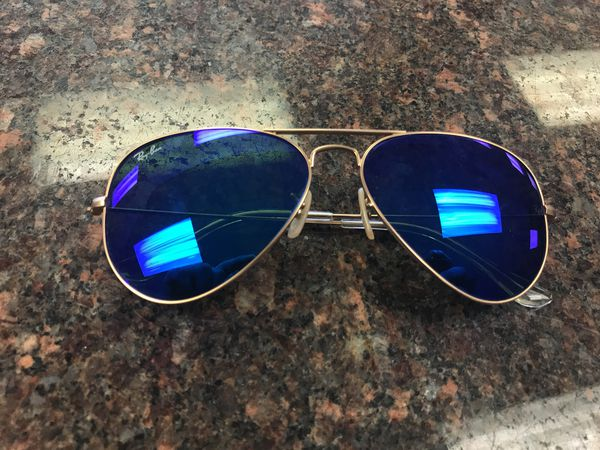 6cffb3355e1 Rayban sunglasses aviator crystal green lens gold frame in good condition