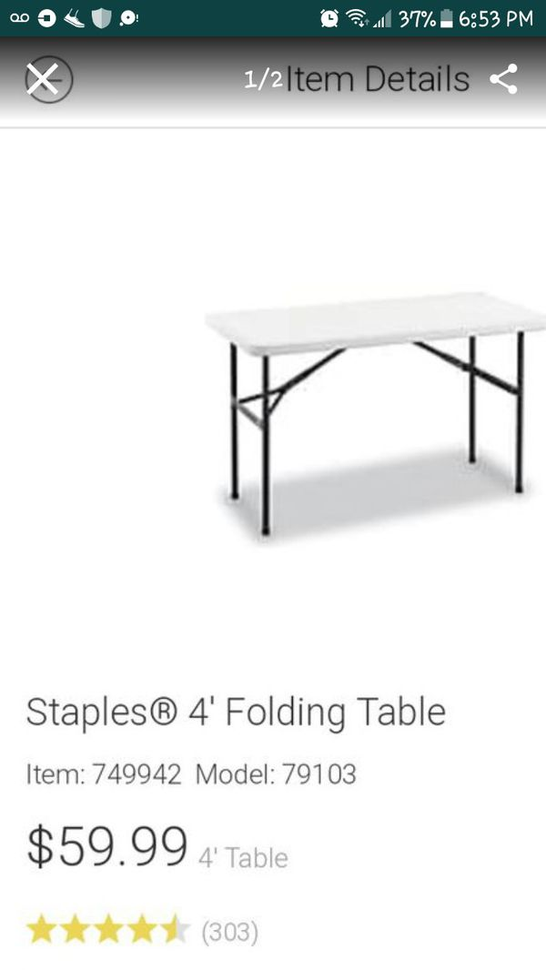 Staples Folding Table 27088 Photos Table And Pillow