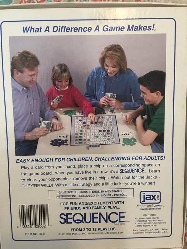 New Sequence Board Game For Sale In Hemet Ca Offerup