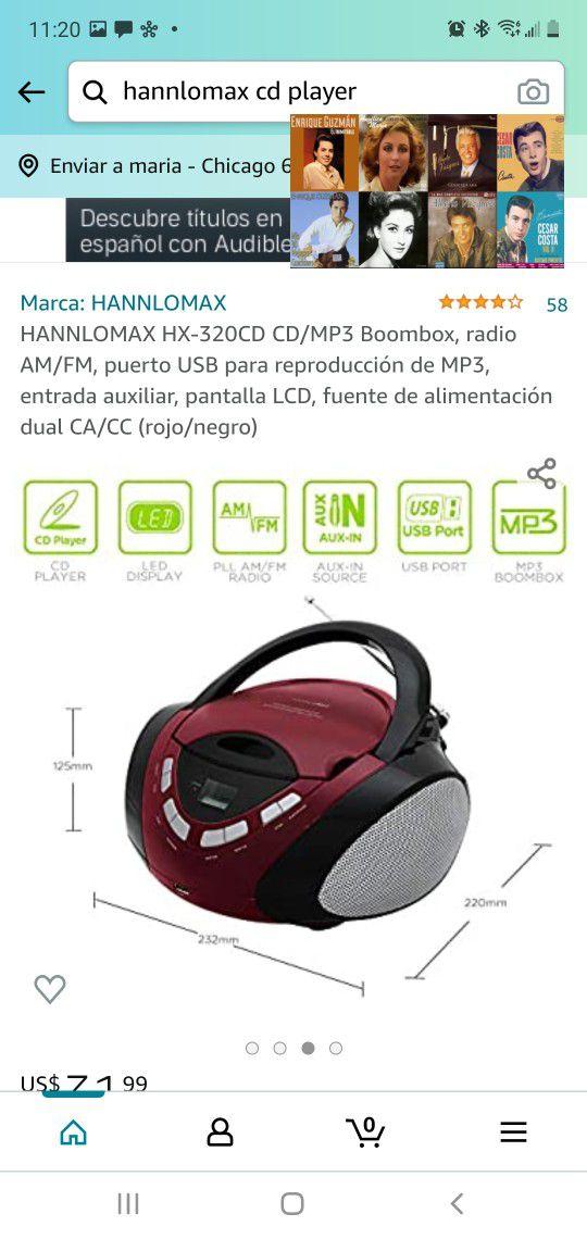 HANNLOMAX HX-320CD CD / MP3 Boombox,