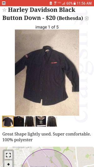 Harley Davidson Button Down Shirt for Sale in Bethesda, MD