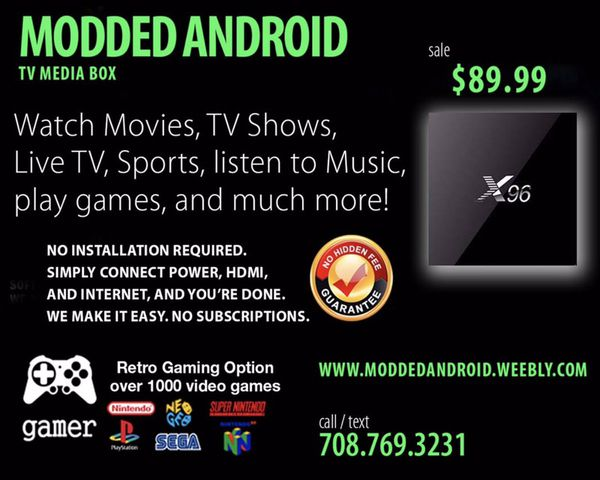 Better than Fire Stick  Modded Android TV Kodi Box for Sale in Alsip, IL -  OfferUp