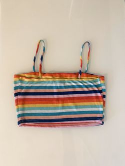 Women's Rainbow Striped Croptop Thumbnail