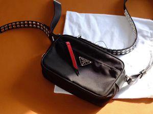 387396cbf079 AUTHENTIC NEW PRADA studded strap textile shoulder bag NEW SEASON  1.42K  for Sale in Renton
