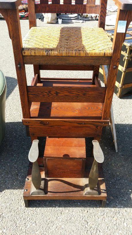 Circa 1905 Gustave Stickley Shoe Shine Chair (Antiques) in Clovis, CA -  OfferUp - Circa 1905 Gustave Stickley Shoe Shine Chair (Antiques) In Clovis