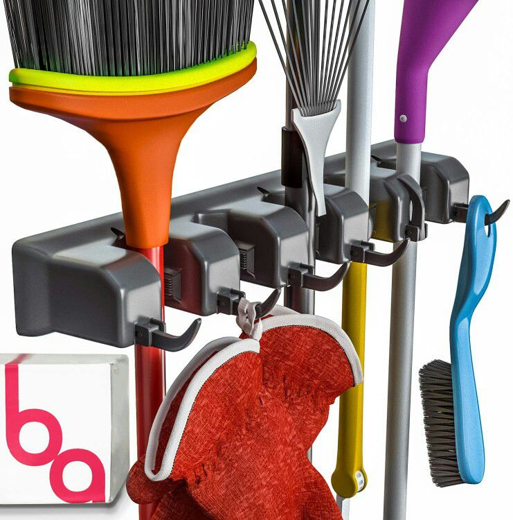 Broom Holder and Garden Tool Organizer Up to 1.25-Inches