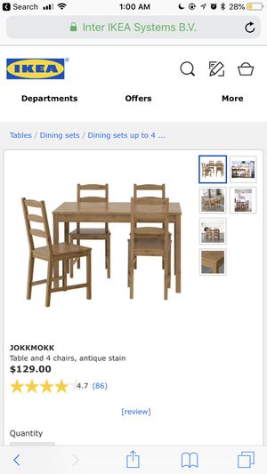 IKEA table and 4 chairs for Sale in Washington, DC