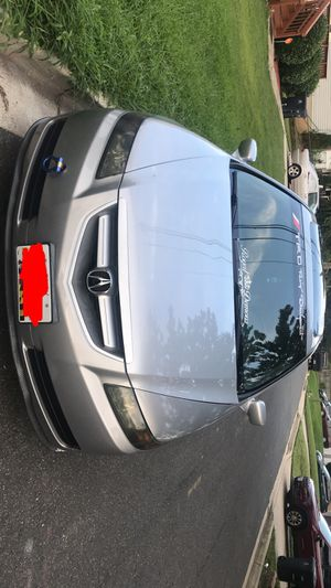 Acura TL 2004 Straight pipes also with LED lights a carbon front bumper lip a small bump on the right side new tires with RDX Rims mat black color for Sale in Hyattsville, MD