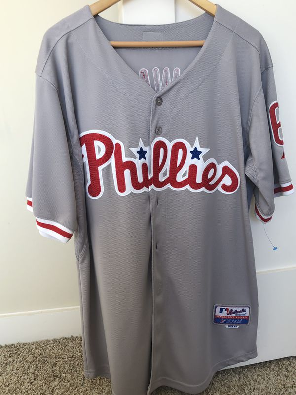 huge selection of d03de 00991 Authentic Majestic Phillies Jersey. Size 48 for Sale in Atlanta, GA -  OfferUp