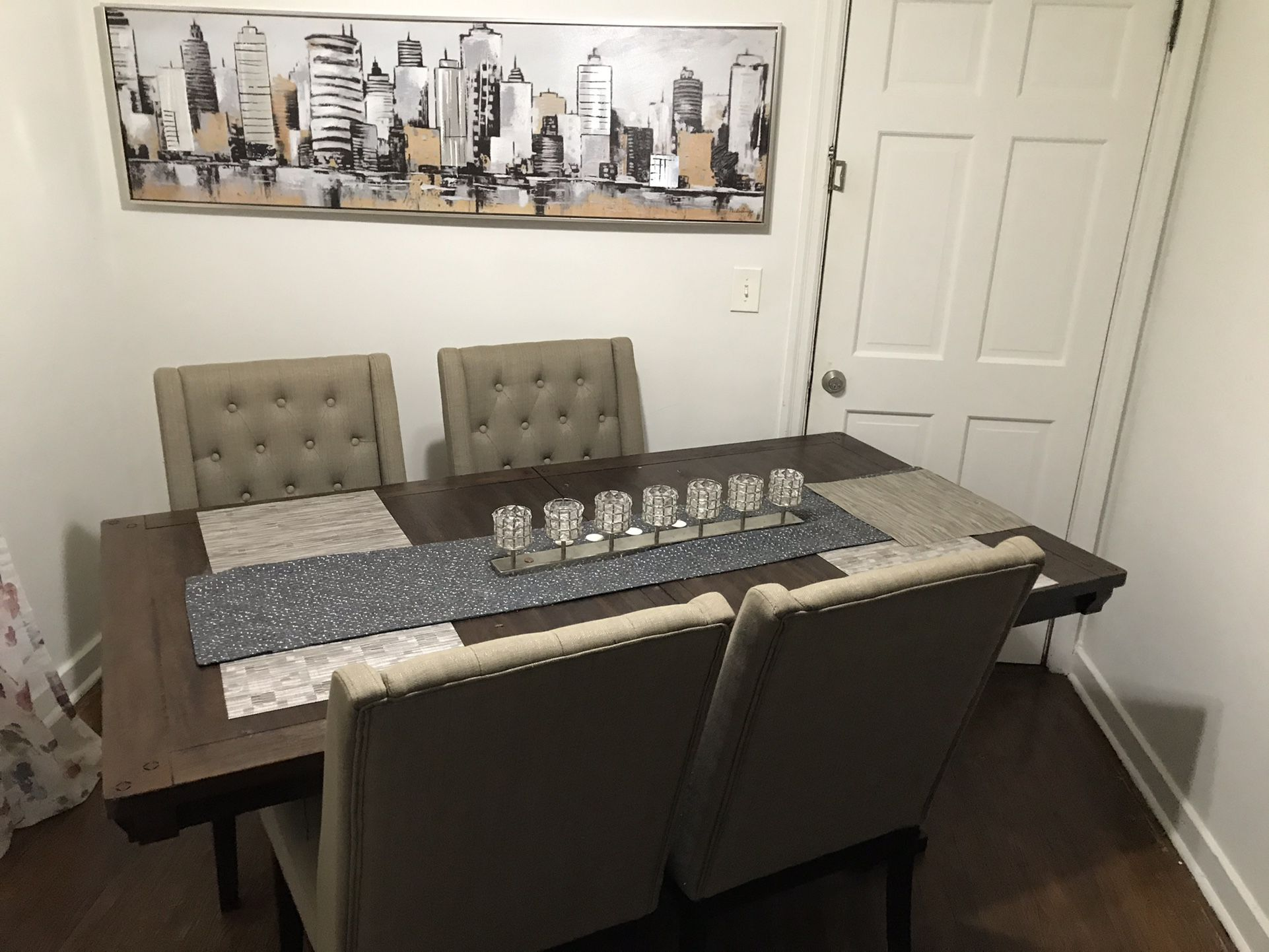Ashley's furniture 6 Chair &  Table Set Negotiable