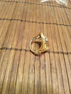 Anillo de la virgen de guadalupe oro laminado Thumbnail