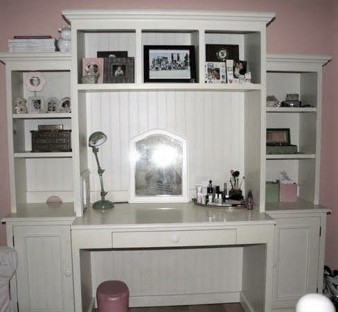 Pottery Barn Desk With Hutch Amp Bookcases For Sale In