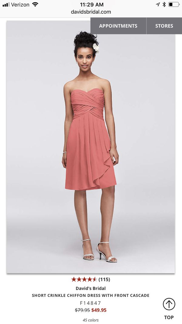 David\'s Bridal - bridesmaid or PROM dress (Clothing & Shoes) in ...