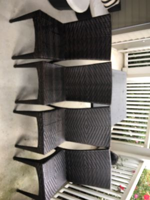 Outdoor patio furniture. Wicker 4 piece dining set. for Sale in Ashburn, VA