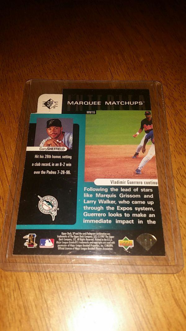 gary sheffield baseball card marquee matchups upper deck major