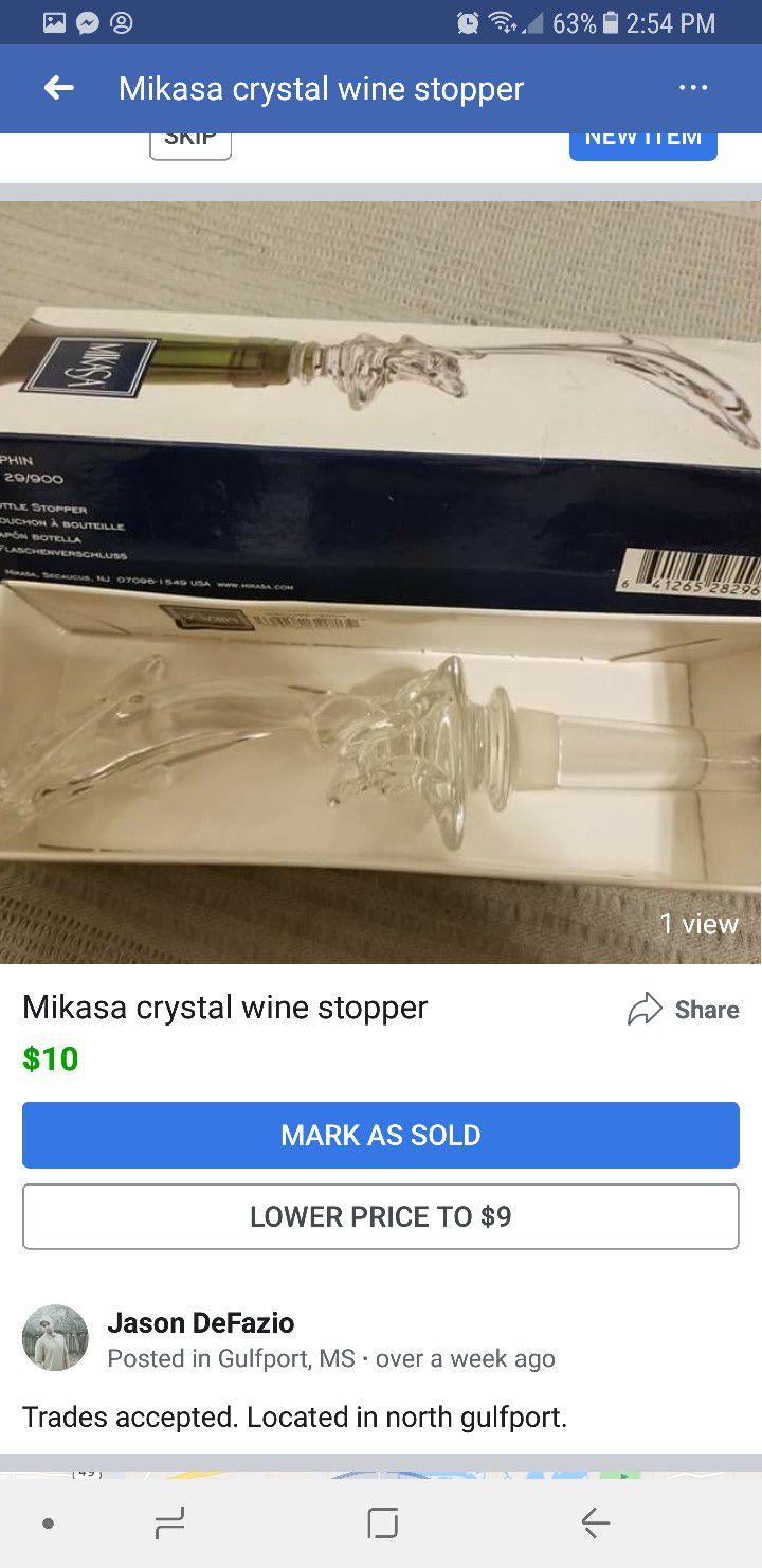 Mikasa wine stopper