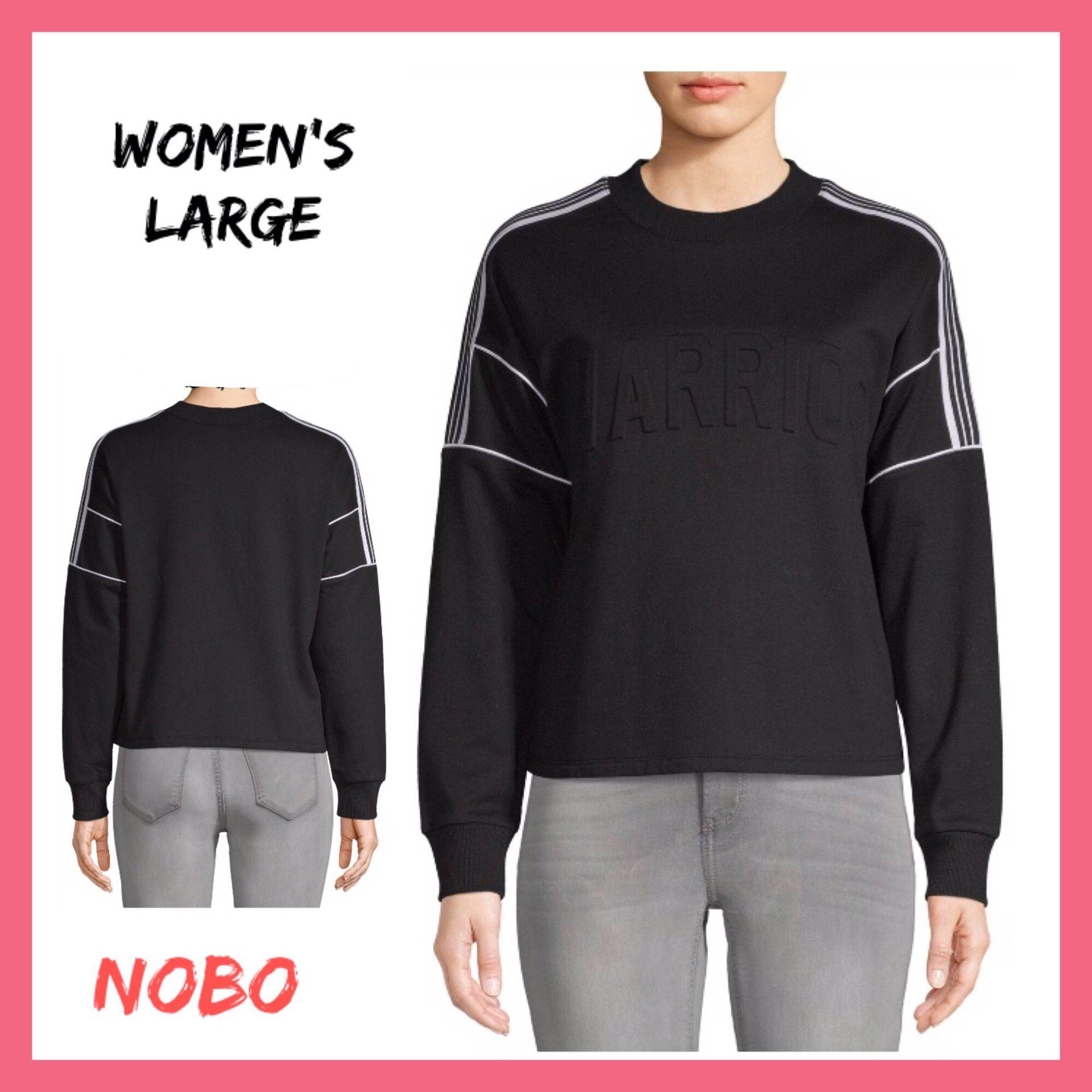 NWT NOBO Black Graphic Sweatshirt Sz:Large