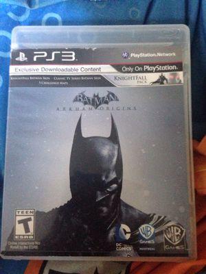 Batman Arkham Origins PlayStation 3 for Sale in Manassas, VA
