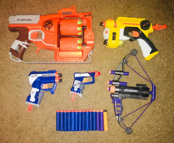 Assorted Nerf Guns with bullets for Sale in Hawthorne, CA - OfferUp