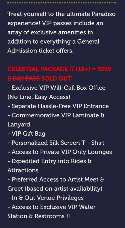 Paradiso celestial package vip ticket tickets in bellevue wa paradiso celestial package vip ticket tickets in bellevue wa offerup m4hsunfo