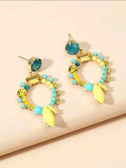 Rhinestone Drop Earrings  Thumbnail