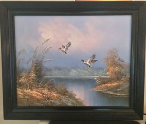 Oil painting on canvas with decorative wood frame for Sale in Apex, NC
