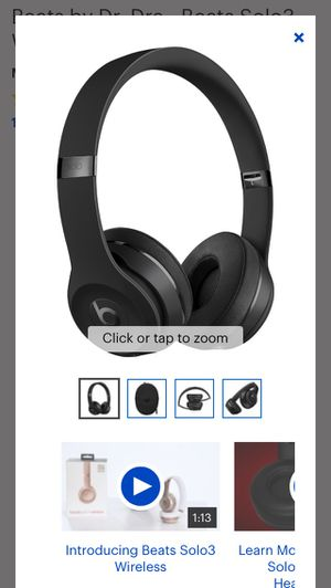 Beats by Dr. Dre - Beats Solo3 Wireless Headphones - matte Black for Sale in Rockville, MD
