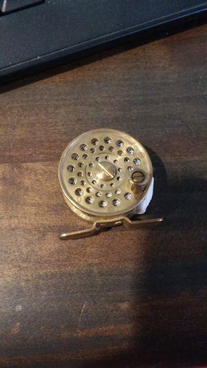 Mini brass fly fishing reel tape measure, great gift idea for Sale in Clovis, CA