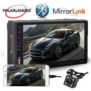 2 Din Car Radio Touch Screen 7 inch GPS Android mirror link 9 languages hands free BT/FM/TF/USB with rear view camera car audio for Sale in Bethesda, MD