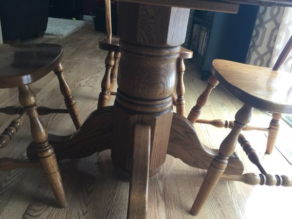 Amish Oak By Yoder Solid Table South Elgin Il