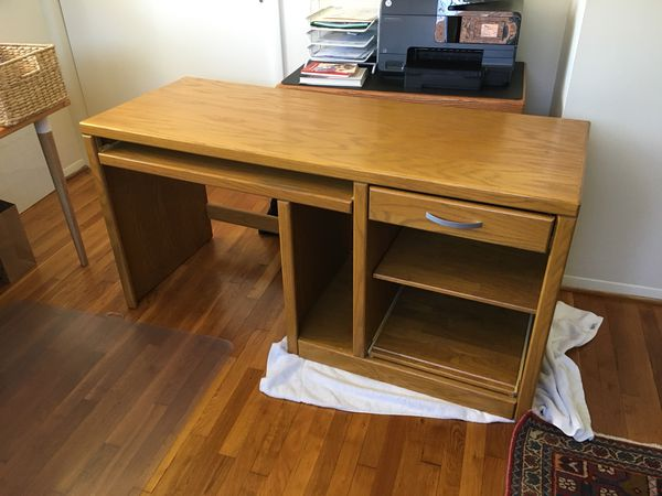 Nice Wood Desk And Matching File Cabinet For In Annandale Va Offerup