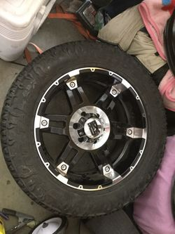 Xd series wheels for 6 lug Toyota, Chevy,or Nissan with Radial tires Thumbnail
