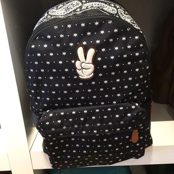 39c6a3f734a1 New coach x Disney mickey Charles backpack prairie bandana print bag ...
