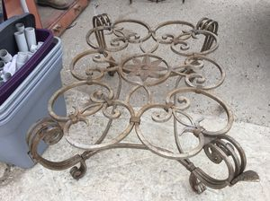 Wrought iron table base for Sale in Austin, TX