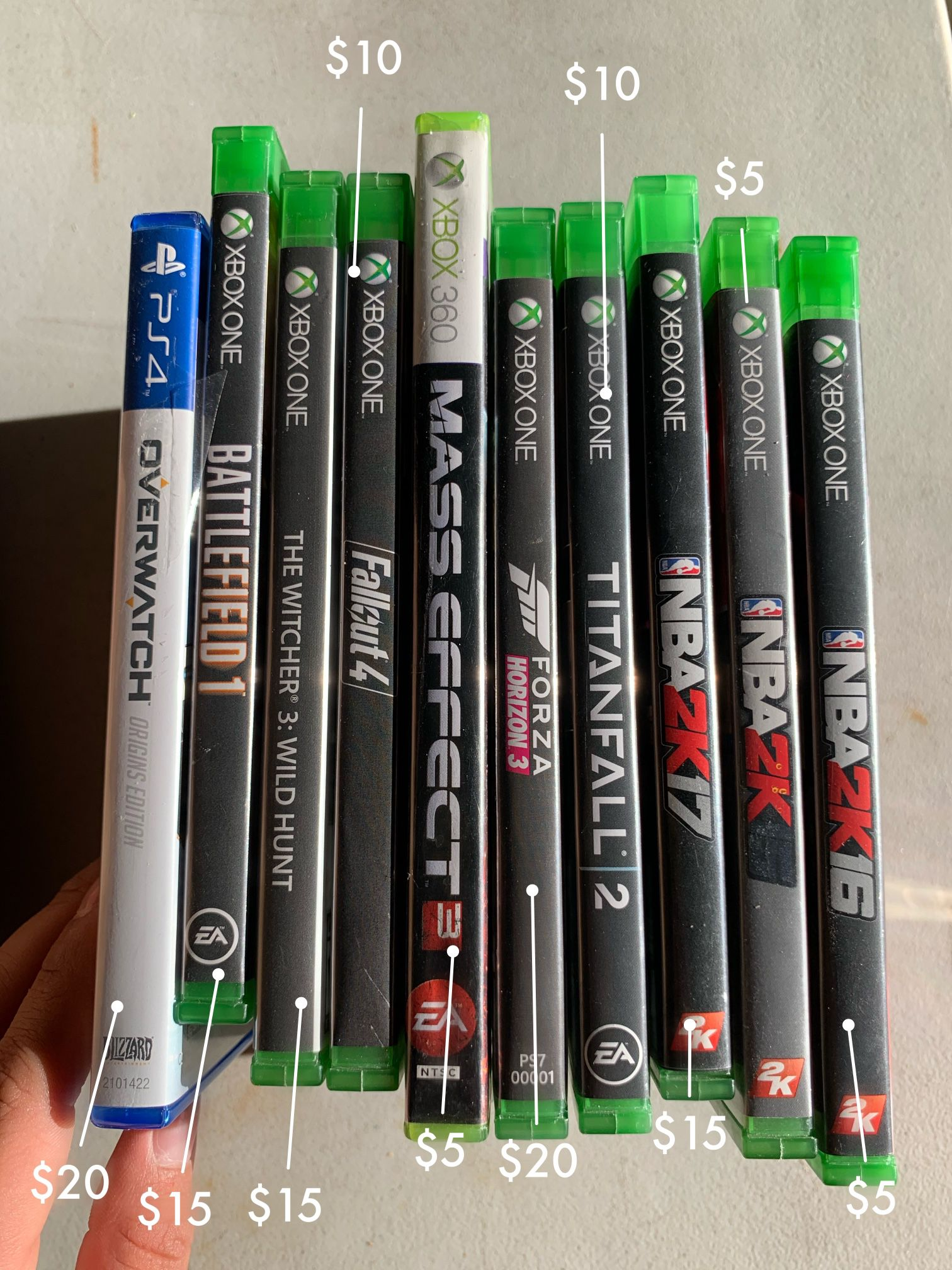 PS4 and Xbox games for sale!